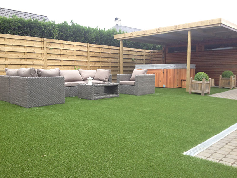 Cornish lawn with artificial grass